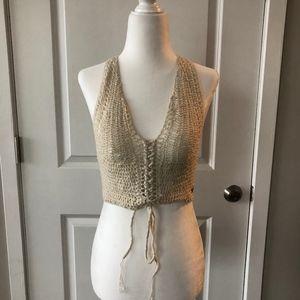 Kendall and Kylie crochet racerback crop top